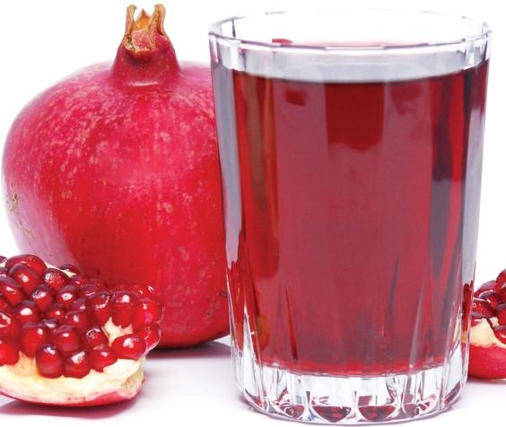 מיץ הרימון עשיר בנוגדי חימצון